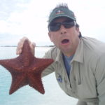 Justin with starfish